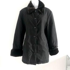 United Colors of Benneton Y2K Black Winter Coat